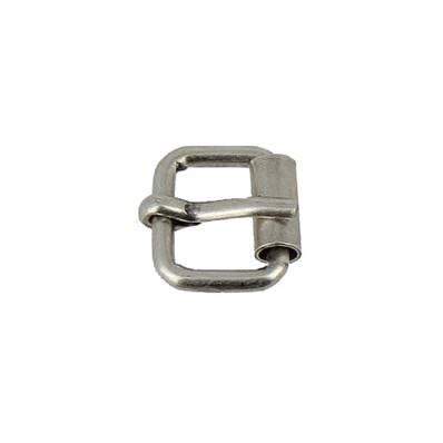 Boucle à rouleau à ardillon - ARGENT VIEILLI - 10 mm
