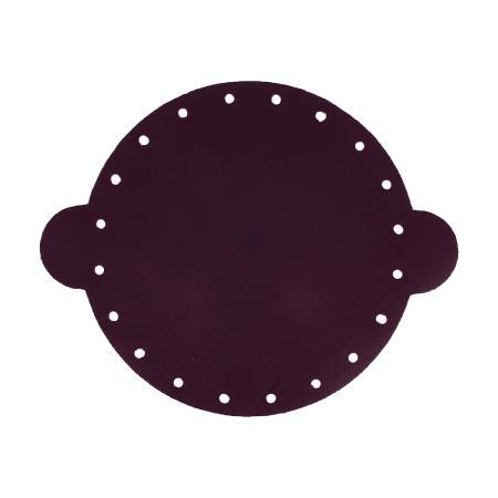 Cuir déja coupé pour faire une bourse en cuir PRUNE - Diamètre 20 cm