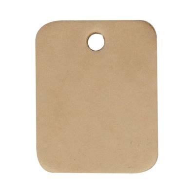 Découpe RECTANGLE pour porte clés en cuir naturel à personnaliser