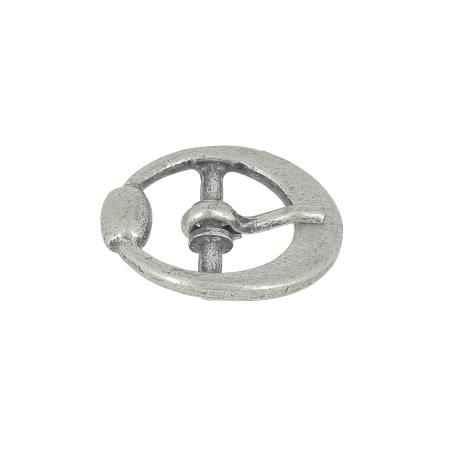 Boucle ovale à ardillon - ARGENT VIEILLI - 14 mm
