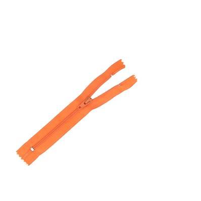 Fermeture à glissière NYLON #4 - ORANGE - Longueur 14 cm