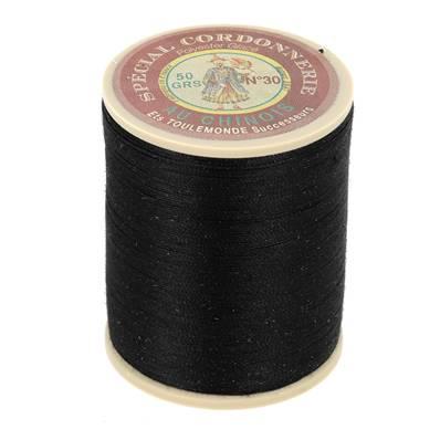 Fil Spécial Cordonnerie 100% polyester - Bobine 750 m - NOIR 180