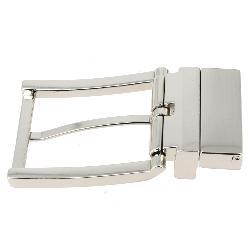 Boucle de ceinture à griffe réversible INA - NICKELÉ SATINÉ - 35 mm
