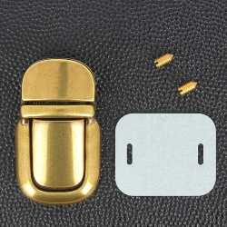TUCK - Fermeture de cartable - 23x40 mm - LAITON VIEILLI
