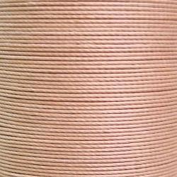 Cartonnette de 8m de fil de lin ciré MeiSi super fine M50 - 0,55 mm - BEIGE - MS005