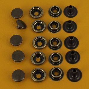 Lot de 5 boutons pression FORT en laiton vieilli - diamètre 12 mm
