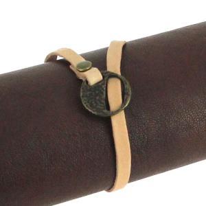 Fermoir bracelet - Laiton vieilli - Lacet plat 5 mm