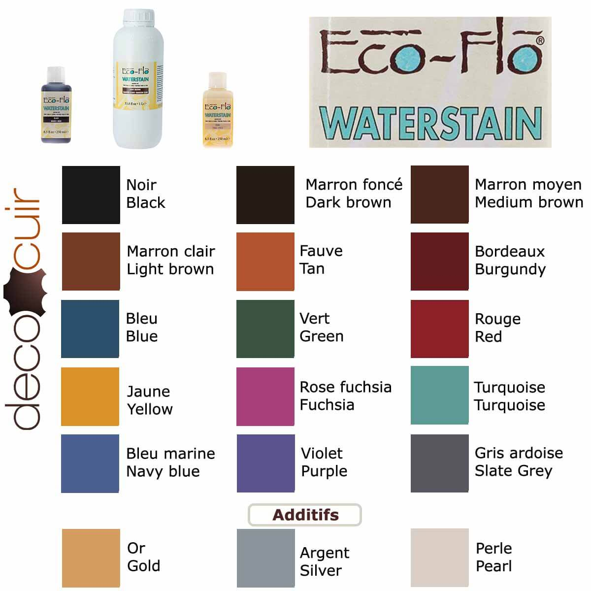 Teinture ECO-FLO WATERSTAIN - MARRON CLAIR / LIGHT BROWN - 1 litre