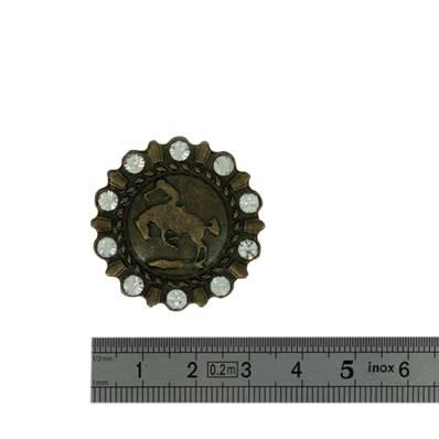 Concho RODEO - 32 mm - Laiton vieilli
