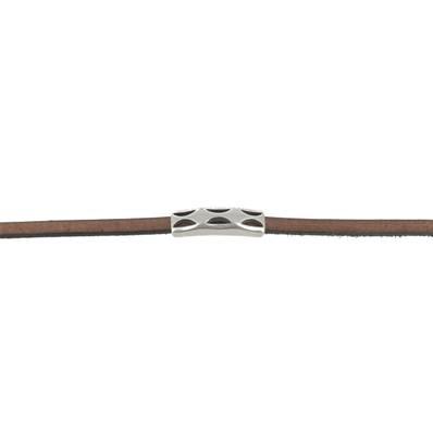 Coulissant SIX VAGUES - Lanière de 5 mm - ARGENT VIEILLI