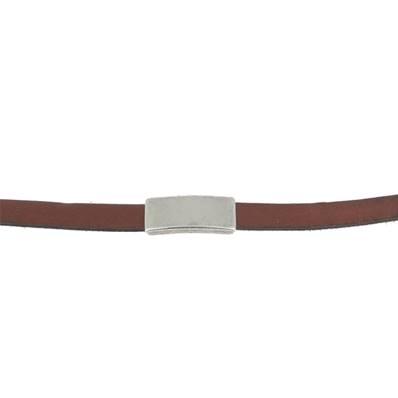 Coulissant CLASSIQUE LONG - Lanière de 10 mm - ARGENT VIEILLI