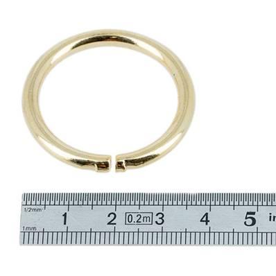 Anneau rond - acier DORE - 35 mm - Fil 4 mm
