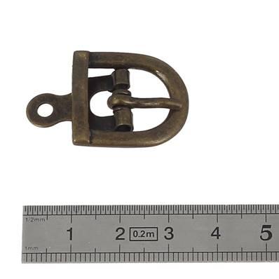 Boucle à ardillon avec chape - LAITON VIEILLI - 14 mm