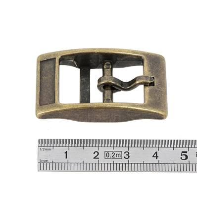 Boucle double KIM - LAITON VIEILLI - 18 mm