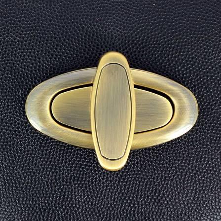Fermoir ovale pour sac - LAITON VIEILLI - 63x31 mm