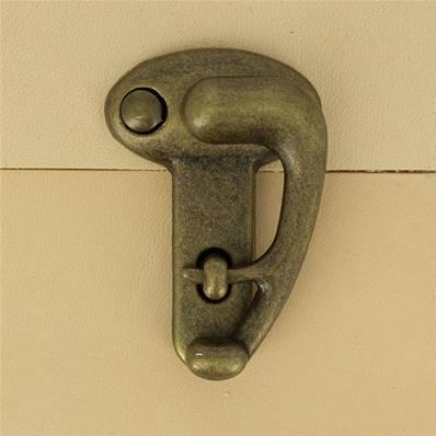 Fermoir pivotant à droite pour sac - LAITON VIEILLI - 36x54  mm