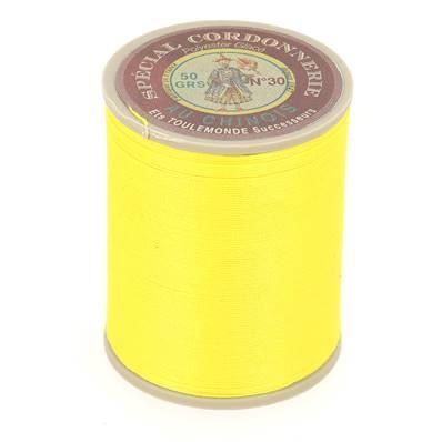 Fil Spécial Cordonnerie 100% polyester - Bobine 750 m - JAUNE 350
