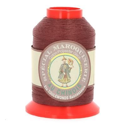 Fil Spécial Maroquinerie polyester coton - 28/2 - 0,38 mm - BRIQUE