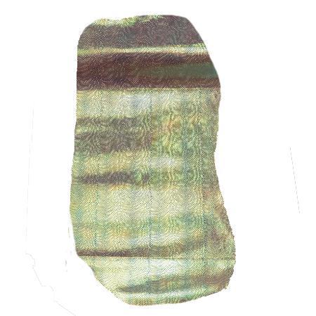 Peau de croûte de cuir écaille sirène - NACRÉ B24