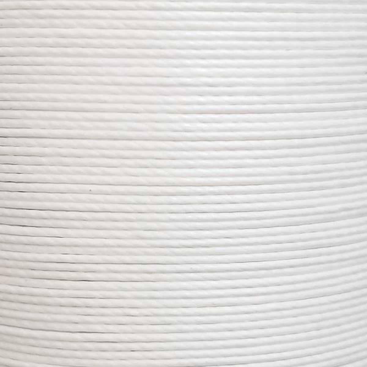Cartonnette de 8m de fil de lin ciré MeiSi M90 - 0,9 mm - BLANC - MS007