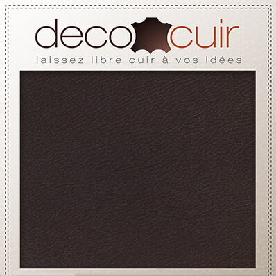 Morceau de cuir SWEET 2 - CHOCOLAT - 15x20 cm - Ép 1 mm