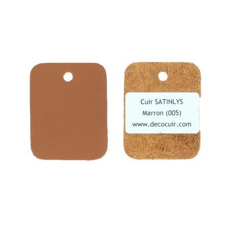 Échantillon de cuir de veau SATINLYS - MARRON