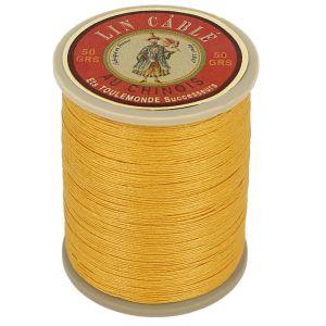 Bobine fil de lin au chinois câblé glacé - 332 - JAUNE 508