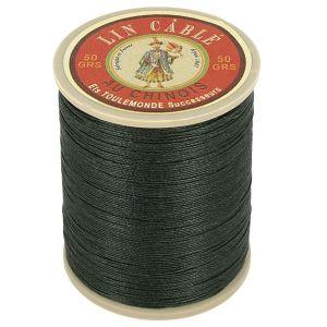 Bobine fil de lin au chinois câblé glacé - 332 - VERT SAPIN 494