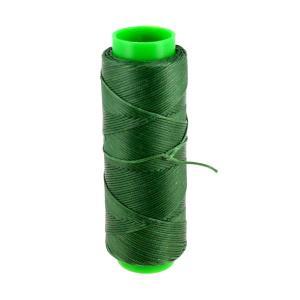 Bobine de fil polyester tressé et ciré - 100 mètres - diam 1 mm - VERT