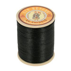 Bobine fil de lin au chinois retors extra glacé n°24 - NOIR 180