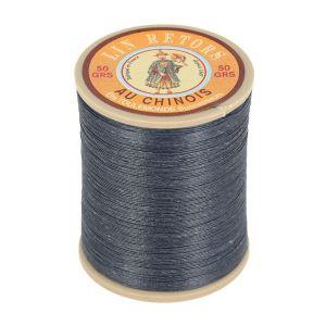 Bobine fil de lin au chinois retors extra glacé n°40 - GRIS ANTHRACITE 174