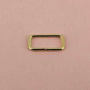 Passant rectangulaire - LAITON - 16 x 7 mm - Fil 1,8 mm