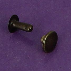 Lot de 20 rivets moyen en laiton (T4) finition laiton vieilli