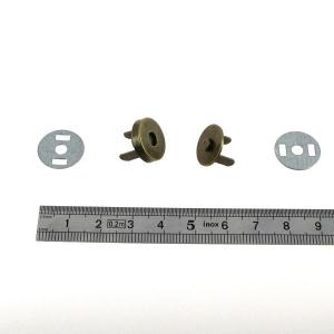 TOP magnetic - Fermoir magnétique - d=14 mm - Laiton vieilli