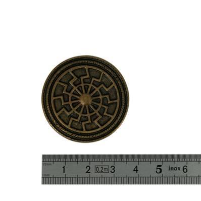Concho ROUE - 35 mm - Laiton vieilli