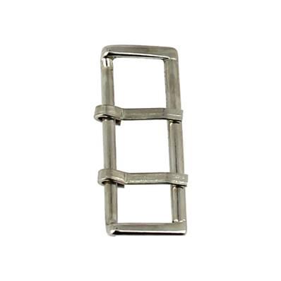 Boucle de ceinture à double ardillon - NICKELE - 38 mm
