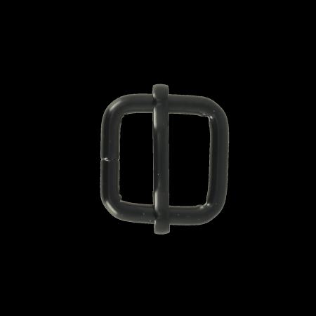 Boucle coulissante - NOIR MAT - 20x20 mm - Fil 4 mm
