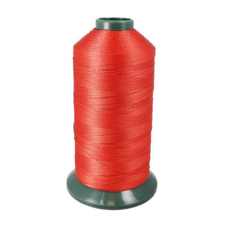 Bobine de fil polyester retors N° 20 - 1500 mètres - Rouge