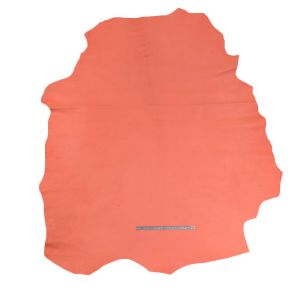 Peau de cuir d'agneau nappa lisse - ROSE SAUMON - 2' choix