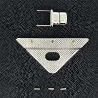 Fermoir plaque triangle pour sac - NICKELE - 70x35 mm