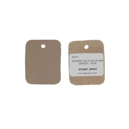 Échantillon de cuir de vachette GRANITE - TAUPE