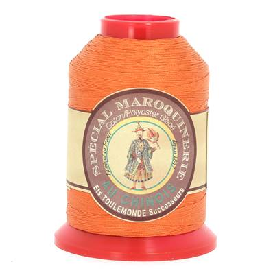Fil Spécial Maroquinerie polyester coton - 28/2 - 0,38 mm - ORANGER
