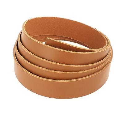Bande de cuir de collet - LONDON FAUVE - Larg 25 mm - Long 110 cm - Ép 1,9 mm