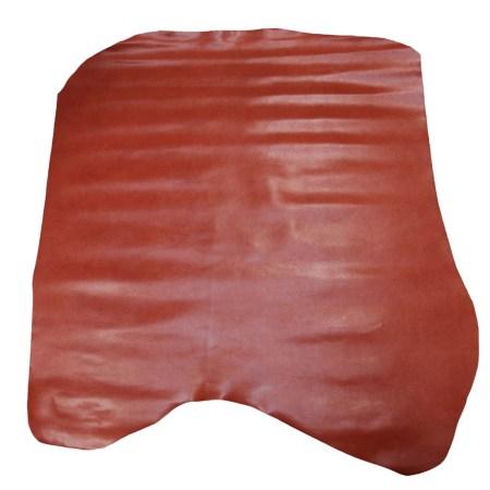 Peau de croûte de cuir enduite grainé - BRIQUE C71