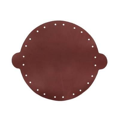 Cuir déja coupé pour faire une bourse en cuir BORDEAUX - Diamètre 20 cm