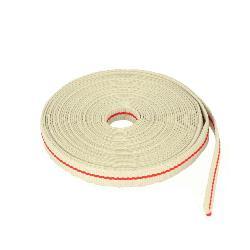 Ruban galon polyester BEIGE et ROUGE - Largeur 10 mm - 25 mètres