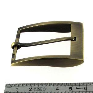 Boucle de ceinture ELI - LAITON VIEILLI BROSSE - 40 mm