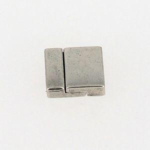 Fermoir pour bracelet - Rectangles aimantés - Argent vieilli - Lanière 13 mm