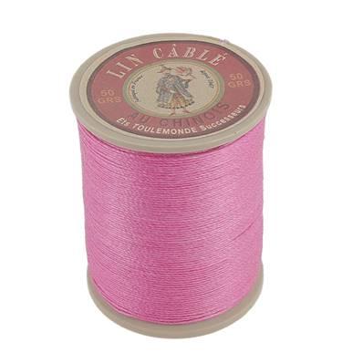 Bobine fil de lin au chinois câblé glacé - 332 - ROSE PIVOINE 125