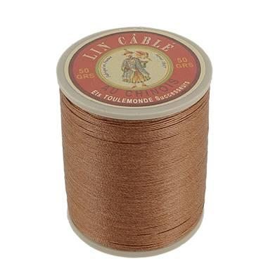 Bobine fil de lin au chinois câblé glacé - 332 - BRONZE 374